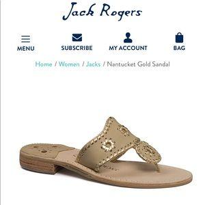 Jack Rogers Nantucket Gold Jacks Sandals